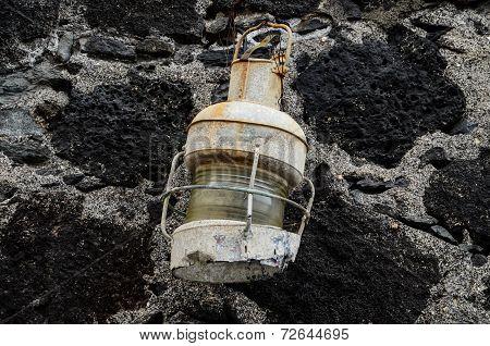 Old Vintage Kerosene Lantern