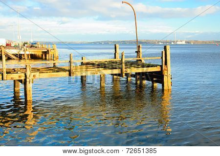 Cobh, Ireland - November 26 : Old Titanic Pier On November 26, 2012 In Cobh Ireland