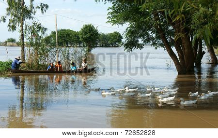 Flooded Vietnamese Countryside