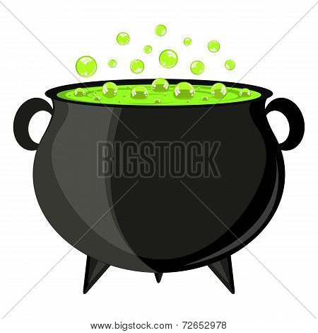 black cauldron witches potion for Halloween