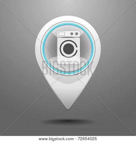 Glossy Laundromat Icon
