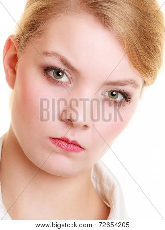 Angry Furious Mad Businesswoman Woman Girl