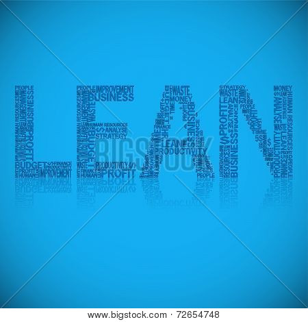 Abstract Typography Background With Heading Lean
