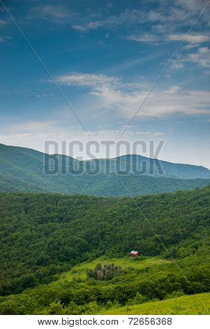 Distant View of Overmountain Shelter