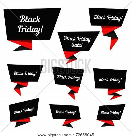 Black Friday Sale vector elements