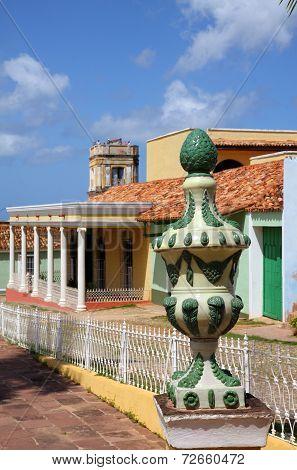 Plaza Mayor detail, Trinidad, Cuba