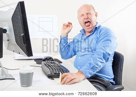 Office worker screaming