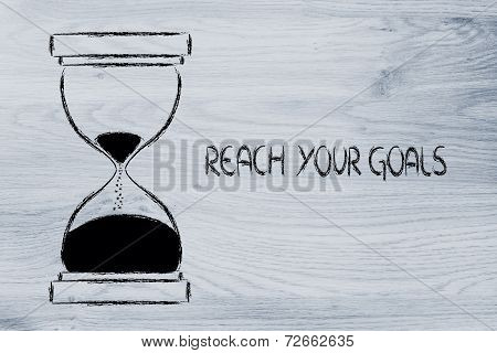 Reach Your Goals Now, Hourglass Design