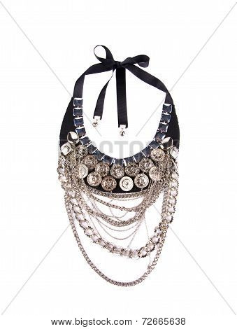 Woman beautiful necklace.