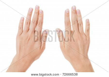 Sensual Female Hands Isolated On White