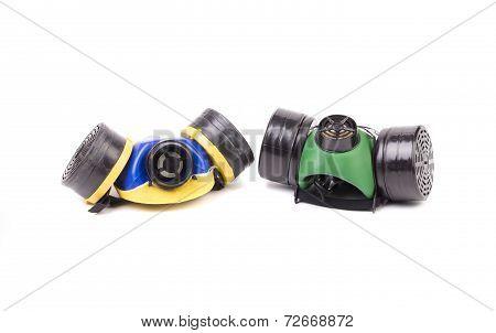 Respirators closeup.