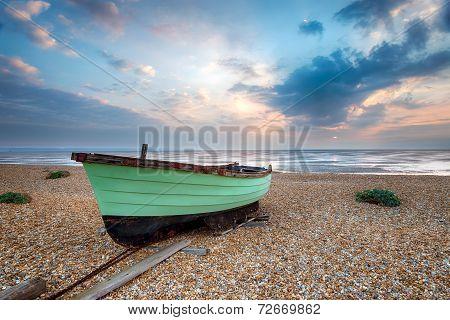Green Fishing Boat At Lydd