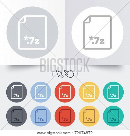 Archive file icon. Download 7z button.