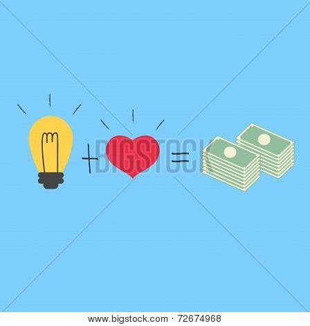 Love With Idea Way To Millionaire