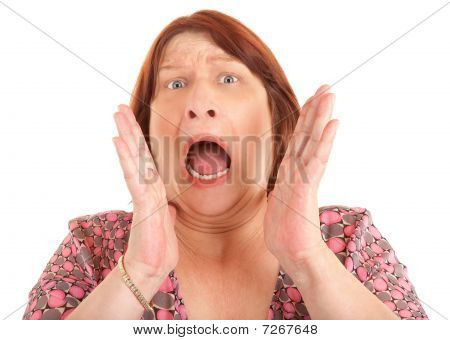 Woman Shouting For Help