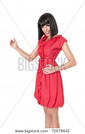 Woman In Red Mini Dress