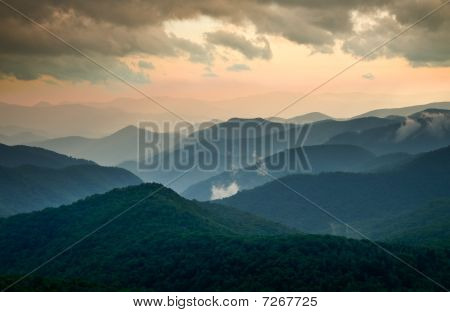 Blue Ridge Parkway Summer Sunset Landscape
