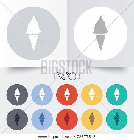 Ice Cream sign icon. Sweet symbol.