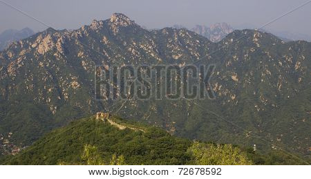 Panoramic The Great Wall Of China