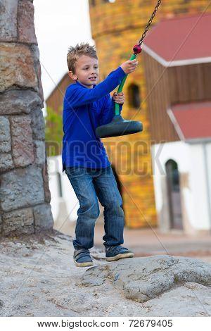 Boy With Zip Line