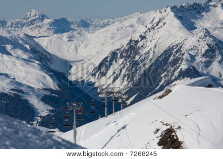Ski Resort In Alps