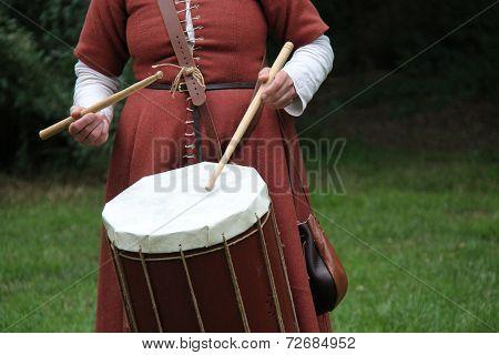 Medieval Style Drum.