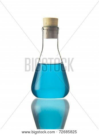 Flask With Blue Liquid
