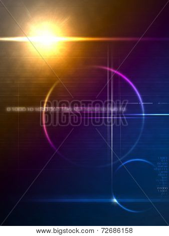 Technology Lensflare Backdrop