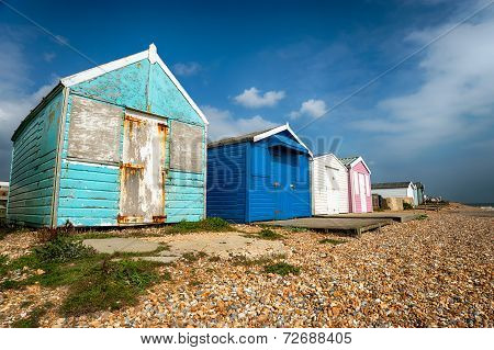 Beach Huts At Hastings