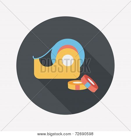 Adhesive Tape Flat Icon With Long Shadow,eps10