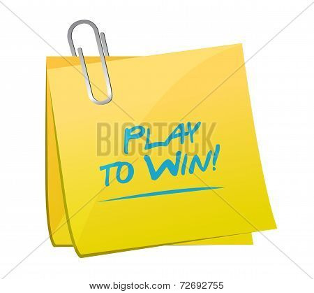 Play To Win Illustration Design