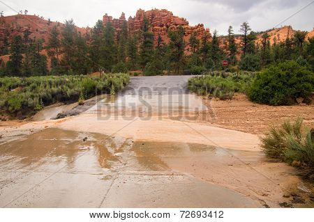 Flash Flood At Red Canyon Utah