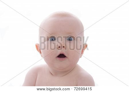 Baby With White Background