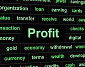 picture of revenue  - Profit Revenue Indicating Employed Success And Revenues - JPG