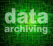 pic of byte  - Data Archiving Indicating Bytes Archives And Fact - JPG