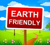 stock photo of ecosystem  - Earth Friendly Representing Natural Ecosystem And Recyclable - JPG