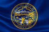 pic of nebraska  - 3D rendering of the flag of Nebraska on satin texture - JPG