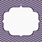 pic of chevron  - Purple and White Chevron Zigzag Frame Background with center for copy - JPG