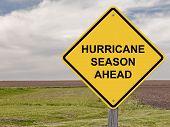 foto of hurricane wind  - Caution Sign  - JPG