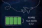 Постер, плакат: Airport Security Measures Devices Charged