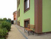 stock photo of vinnitsa  - Plot of the residential buildings in the village houses Luke Meleshkovskaya Vinnitsa region of Ukraine - JPG