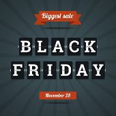 foto of friday  - Black friday sale illustration in flat style - JPG