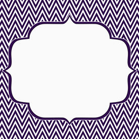 foto of chevron  - Purple and White Chevron Zigzag Frame Background with center for copy - JPG