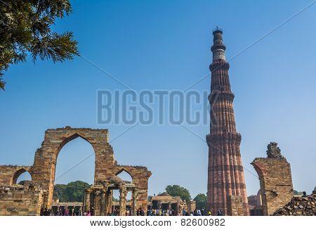 Qutub Minar premesis, Delhi, India