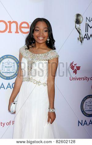 LOS ANGELES - FEB 6:  Ajae Ashley Jackson at the 46th NAACP Image Awards Arrivals at a Pasadena Convention Center on February 6, 2015 in Pasadena, CA