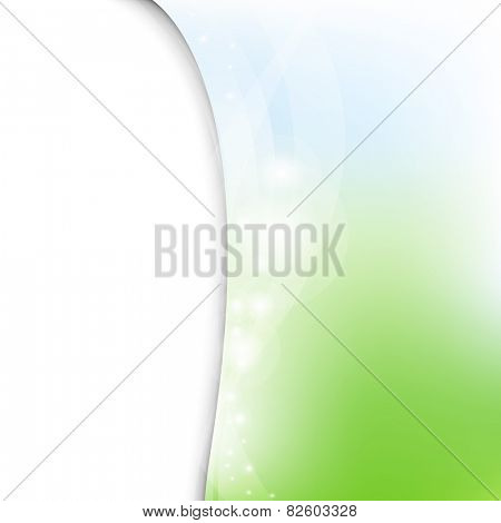 Green And Blue Pastel Poster With Line With Gradient Mesh, Vector Illustration