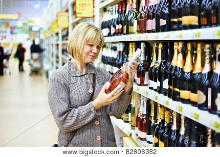Woman Choosing Pink Wine