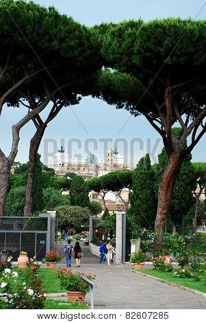 View Of Vittorio Emanuele Monument In Rome City
