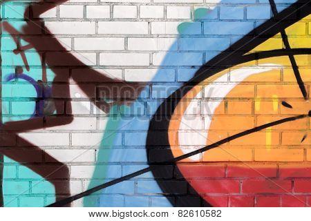Brick Painted with Spray