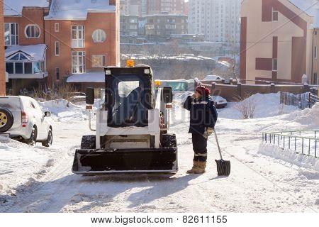 Snow Clearers Having a Break